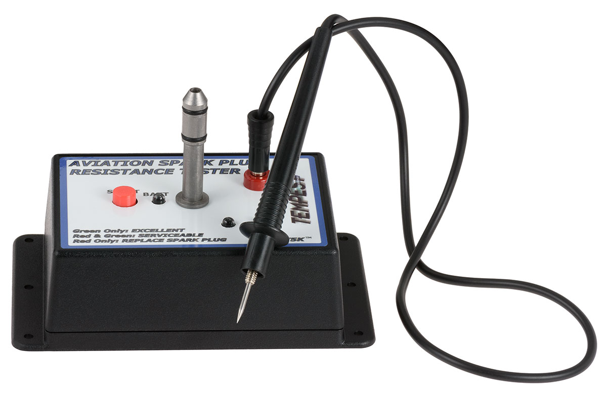 Cable Resistance Tester : Spark plug resistance tester from aircraft tool supply
