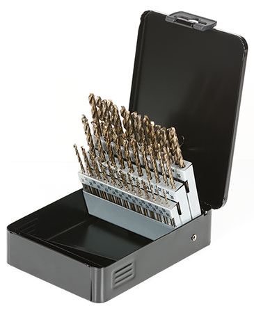 #1 TO #60 NUMBER SIZE COBALT DRILL BIT SET (012-C60N)
