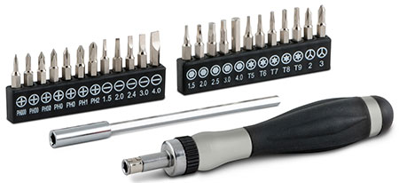 RATCHETING PRECISION SCREWDRIVER (16092)