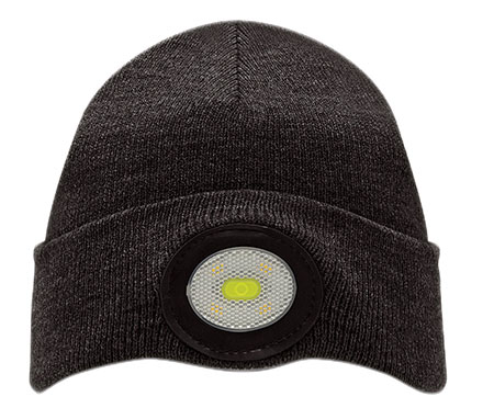 RECHARGEABLE LIGHT BLACK BEANIE (BE02-B)