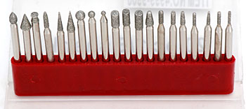 1/8 SHANK DIAMOND POINT SET (20 PCS) (WT4999-9900)