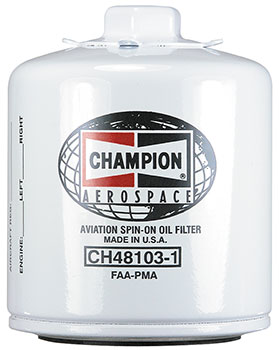 CHAMPION® AVIATION OIL FILTER (CH48103-1)
