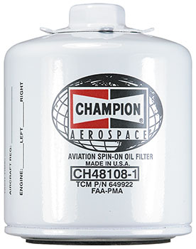 CHAMPION® AVIATION OIL FILTER (CH48108-1)
