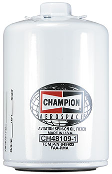 CHAMPION® AVIATION OIL FILTER (CH48109-1)