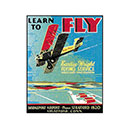LEARN TO FLY, TIN SIGN (TN-LF)