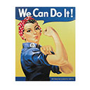 ROSIE THE RIVETER, TIN SIGN (TN-RR)