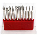 1/4 SHANK DIAMOND POINT SET (10 PCS) (WT4999-9910)